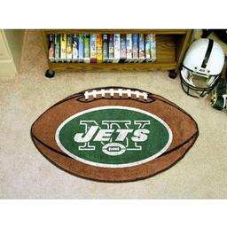 "Click here to learn more about the New York Jets Football Rug 20.5""x32.5""."