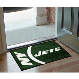"Click here to learn more about the New York Jets Uniform Inspired Starter Rug 20""x30""."