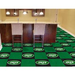 "Click here to learn more about the New York Jets Carpet Tiles 18""x18"" tiles."