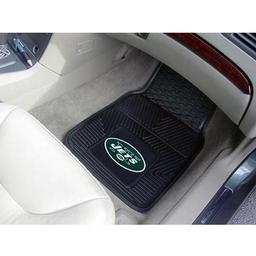 "Click here to learn more about the New York Jets Heavy Duty 2-Piece Vinyl Car Mats 17""x27""."