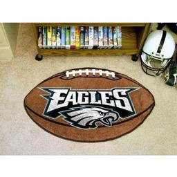 "Click here to learn more about the Philadelphia Eagles Football Rug 20.5""x32.5""."