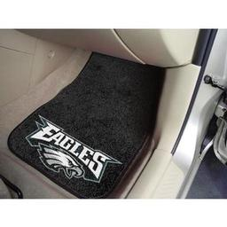 "Click here to learn more about the Philadelphia Eagles 2-piece Carpeted Car Mats 17""x27""."