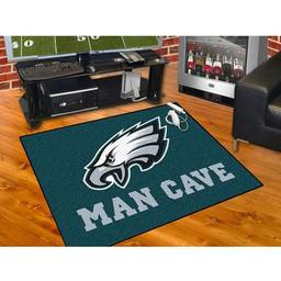 "Click here to learn more about the Philadelphia Eagles Man Cave All-Star Mat 33.75""x42.5""."