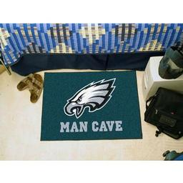 "Click here to learn more about the Philadelphia Eagles Man Cave Starter Rug 19""x30""."