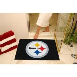 "Click here to learn more about the Pittsburgh Steelers All-Star Mat 33.75""x42.5""."