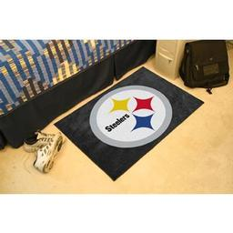 "Click here to learn more about the Pittsburgh Steelers Starter Rug 20""x30""."