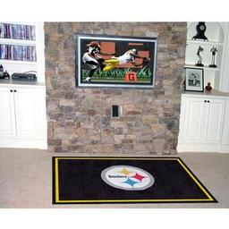 Click here to learn more about the Pittsburgh Steelers Rug 5''x8''.