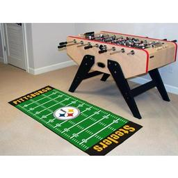"Click here to learn more about the Pittsburgh Steelers Runner 30""x72""."