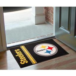 "Click here to learn more about the Pittsburgh Steelers Uniform Inspired Starter Rug 20""x30""."