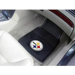 "Click here to learn more about the Pittsburgh Steelers Heavy Duty 2-Piece Vinyl Car Mats 17""x27""."
