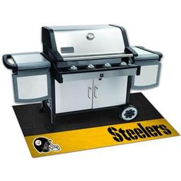 "Click here to learn more about the Pittsburgh Steelers Grill Mat 26""x42""."