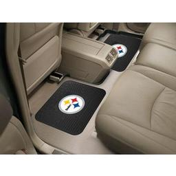 "Click here to learn more about the Pittsburgh Steelers Backseat Utility Mats 2 Pack 14""x17""."