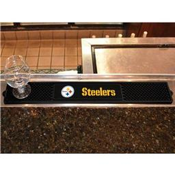 "Click here to learn more about the Pittsburgh Steelers Drink Mat 3.25""x24""."
