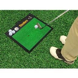 "Click here to learn more about the Pittsburgh Steelers Golf Hitting Mat 20"" x 17""."