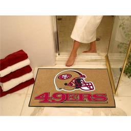 "Click here to learn more about the San Francisco 49ers All-Star Mat 33.75""x42.5""."