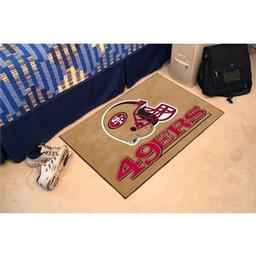 "Click here to learn more about the San Francisco 49ers Starter Rug 20""x30""."