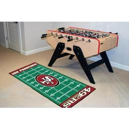 "Click here to learn more about the San Francisco 49ers Runner 30""x72""."