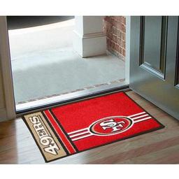 "Click here to learn more about the San Francisco 49ers Uniform Inspired Starter Rug 20""x30""."