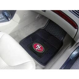 "Click here to learn more about the San Francisco 49ers Heavy Duty 2-Piece Vinyl Car Mats 17""x27""."