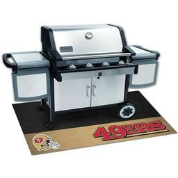 "Click here to learn more about the San Francisco 49ers Grill Mat 26""x42""."