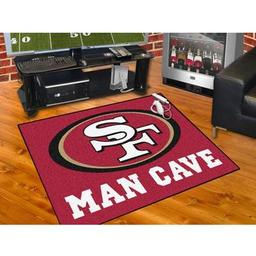 "Click here to learn more about the San Francisco 49ers Man Cave All-Star Mat 33.75""x42.5""."