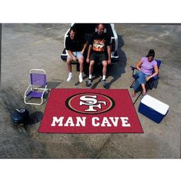 Click here to learn more about the San Francisco 49ers Man Cave UltiMat Rug 5''x8''.