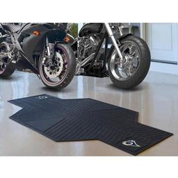"Click here to learn more about the St Louis Rams Motorcycle Mat 82.5"" L x 42"" W."