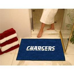 "Click here to learn more about the San Diego Chargers All-Star Mat 33.75""x42.5""."