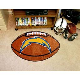 "Click here to learn more about the San Diego Chargers Football Rug 20.5""x32.5""."
