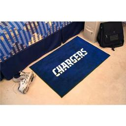 "Click here to learn more about the San Diego Chargers Starter Rug 20""x30""."