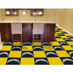"Click here to learn more about the San Diego Chargers Carpet Tiles 18""x18"" tiles."