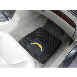 "Click here to learn more about the San Diego Chargers Heavy Duty 2-Piece Vinyl Car Mats 17""x27""."
