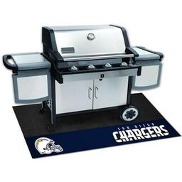 "Click here to learn more about the San Diego Chargers Grill Mat 26""x42""."