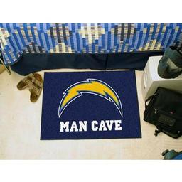 "Click here to learn more about the San Diego Chargers Man Cave Starter Rug 19""x30""."