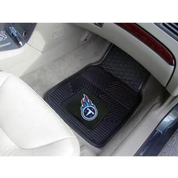 "Click here to learn more about the Tennessee Titans Heavy Duty 2-Piece Vinyl Car Mats 17""x27""."