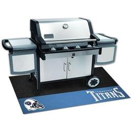 "Click here to learn more about the Tennessee Titans Grill Mat 26""x42""."