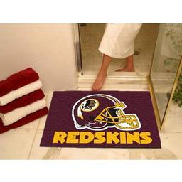 "Click here to learn more about the Washington Redskins All-Star Mat 33.75""x42.5""."