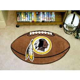 "Click here to learn more about the Washington Redskins Football Rug 20.5""x32.5""."