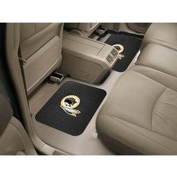 "Click here to learn more about the Washington Redskins Backseat Utility Mats 2 Pack 14""x17""."