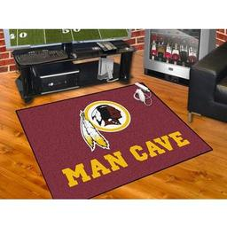 "Click here to learn more about the Washington Redskins Man Cave All-Star Mat 33.75""x42.5""."