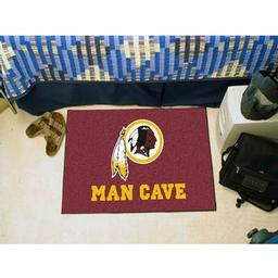 "Click here to learn more about the Washington Redskins Man Cave Starter Rug 19""x30""."