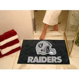 "Click here to learn more about the Oakland Raiders All-Star Mat 33.75""x42.5""."