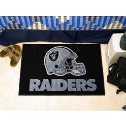 "Click here to learn more about the Oakland Raiders Starter Rug 20""x30""."