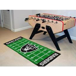"Click here to learn more about the Oakland Raiders Runner 30""x72""."