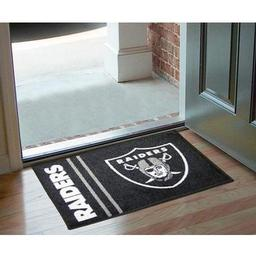 "Click here to learn more about the Oakland Raiders Uniform Inspired Starter Rug 20""x30""."