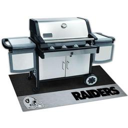"Click here to learn more about the Oakland Raiders Grill Mat 26""x42""."