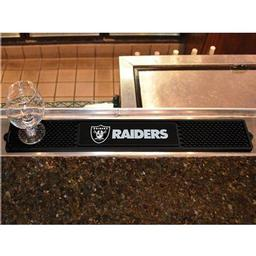 "Click here to learn more about the Oakland Raiders Drink Mat 3.25""x24""."