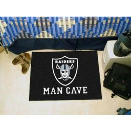 "Click here to learn more about the Oakland Raiders Man Cave Starter Rug 19""x30""."