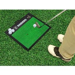 "Click here to learn more about the Oakland Raiders Golf Hitting Mat 20"" x 17""."