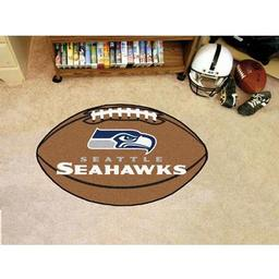 "Click here to learn more about the Seattle Seahawks Football Rug 20.5""x32.5""."